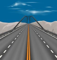 Superhighway scene vector