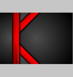 tech corporate black and red background vector image