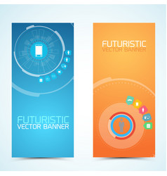 Technologic vertical banners vector