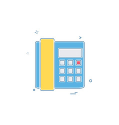 telephone icon design vector image