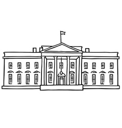 The White House Washington DC vector