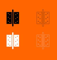 Accessories for door icon vector