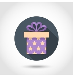 Flat Gift box colorful icon vector image