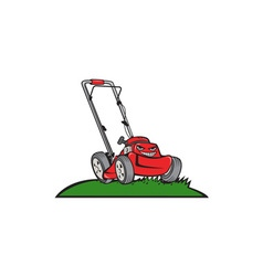 Lawnmower Front Isolated Cartoon vector image vector image