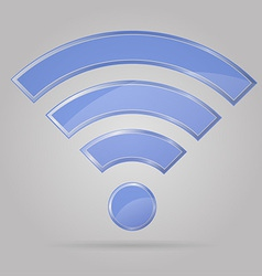 transparent sign wi fi 01 vector image vector image