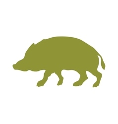Wild boar animal flat silhouette vector