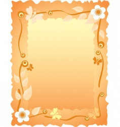 greeting card with frame vector image
