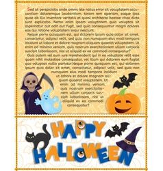 Halloween background with text vector image vector image