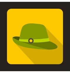Hunter hat icon flat style vector image vector image