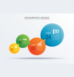 infographics circle number 4 step template vector image