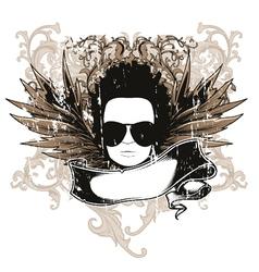 music emblem vector image vector image