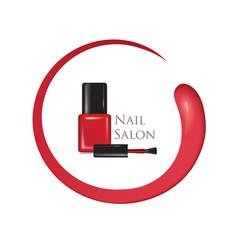 Nail beauty salon background manicure nail polish vector