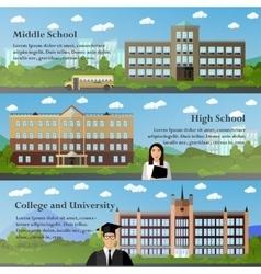 School and university buildings vector image
