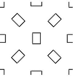 sketchbook pattern seamless black vector image vector image