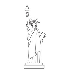 statue of liberty line icon vector image