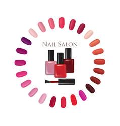 beauty salon background nail polish palette vector image vector image
