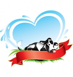 cow label vector image vector image