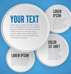 Modern business circle options banner vector image vector image