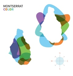 Abstract color map of Montserrat vector image vector image