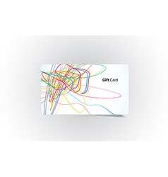 colored business card vector image vector image