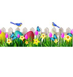 green grass seamless vector image