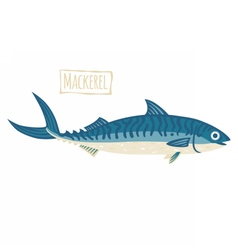 Mackerel cartoon vector image