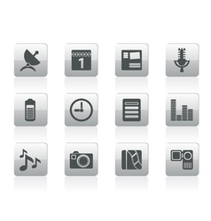 mobile phone performance icons vector image vector image