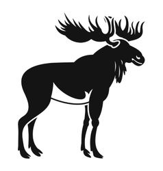 Moose icon simple style vector image vector image