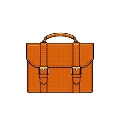 orange color briefcase icon vector image vector image