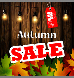 Advertisement about the autumn sale vector