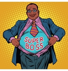 African American businessman super boss vector image