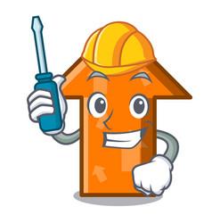 automotive arrow mascot cartoon style vector image