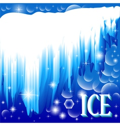 Background with brilliant ice vector