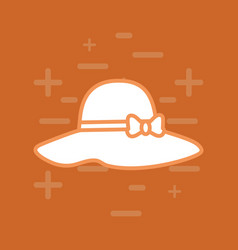 beach hat icon vector image