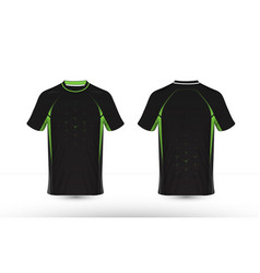 black and green layout e-sport t-shirt design vector image