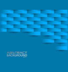 Blue geometric texture original cover template vector