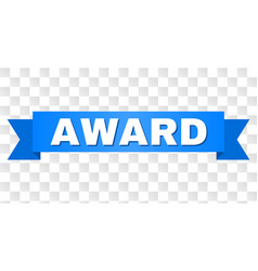blue ribbon with award caption vector image