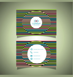 Business card with a striped design vector