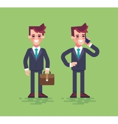 Business characters set flat vector image