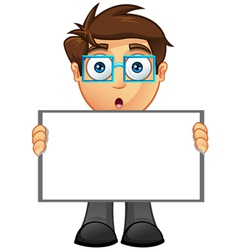 Business Man Blank Sign 9 vector image