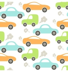 Car cute baby seamless pattern vector
