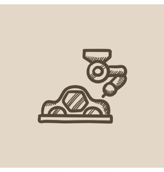Car production sketch icon vector