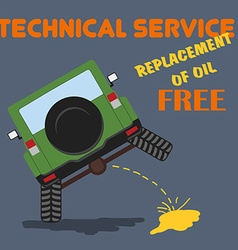 Car repair technical service shop garage vector image