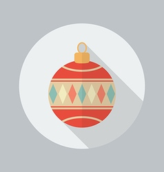 Christmas Ball Flat Icon vector image vector image