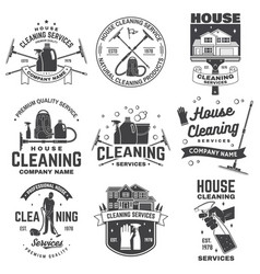 Cleaning company badge emblem vector