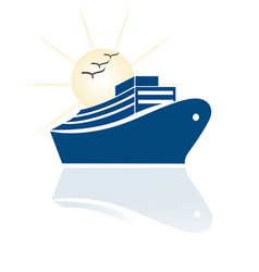 cruise travel icon vector image