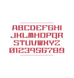 Decorative monospaced sans serif font vector