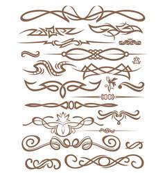 Decorative vignettes vector