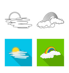 Design of weather and climate symbol vector