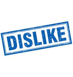 Dislike square stamp vector